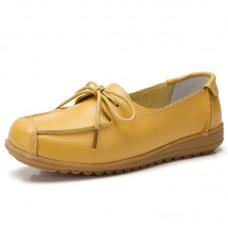 Ботинки кожаные с бантиком-шнурком, zak88-o1805-2