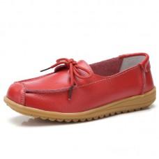 Ботинки кожаные с бантиком-шнурком, zak88-o1805-3