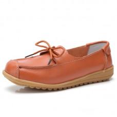 Ботинки кожаные с бантиком-шнурком, zak88-o1805-5