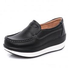 Кожаные туфли на платформе женские, модель zak88-P3213-1