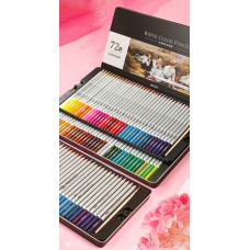 Карандаши акварельные цветные в металлической упаковке 24/36/48/72 шт. Deli, 6521-6524